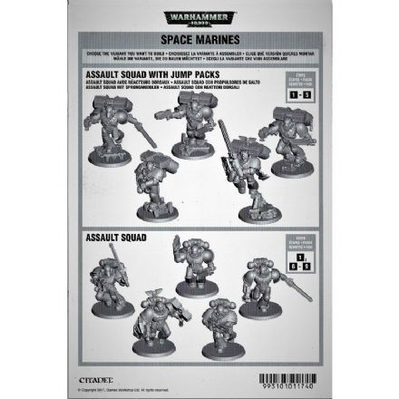 Space Marine Assault Squad Assembly and Rules booklet 2017